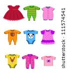 baby clothes | Shutterstock .eps vector #111574541