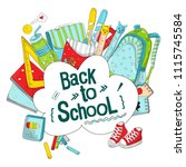 back to school vector... | Shutterstock .eps vector #1115745584