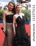 Small photo of VENICE - AUGUST 30: Franziska Petri, Albina Dzhanabaeva at Izmena Premiere during the 69th Venice Film Festival on August 30, 2012 in Venice.