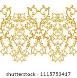 seamless pattern. golden... | Shutterstock . vector #1115753417