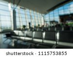 blurred waiting chairs zone in... | Shutterstock . vector #1115753855