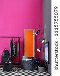 stylish dressing room interior... | Shutterstock . vector #1115755079