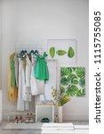 stylish dressing room interior... | Shutterstock . vector #1115755085
