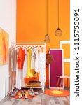 stylish dressing room interior... | Shutterstock . vector #1115755091