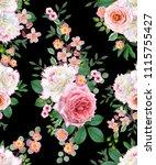 floral seamless pattern. flower ... | Shutterstock . vector #1115755427
