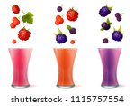 vector illustration of smoothie ... | Shutterstock .eps vector #1115757554