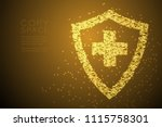 abstract shiny bokeh star... | Shutterstock .eps vector #1115758301