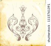 retro baroque decorations... | Shutterstock .eps vector #1115761391