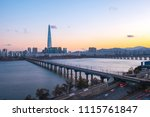 nice sky with view of seoul... | Shutterstock . vector #1115761847