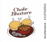 indian street food  ... | Shutterstock . vector #1115762021