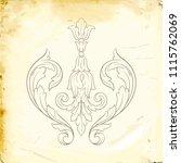 retro baroque decorations... | Shutterstock .eps vector #1115762069