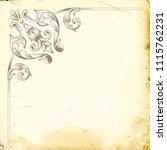 retro baroque decorations... | Shutterstock .eps vector #1115762231