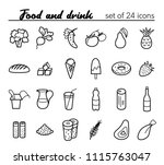food and drink. vector set of... | Shutterstock .eps vector #1115763047