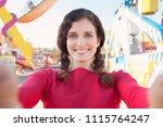 portrait of beautiful tourist...   Shutterstock . vector #1115764247