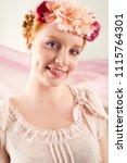 beauty portrait of young nordic ... | Shutterstock . vector #1115764301