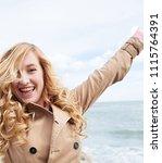 portrait of beautiful young... | Shutterstock . vector #1115764391
