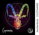 capricorn zodiac sign.... | Shutterstock .eps vector #1115764481