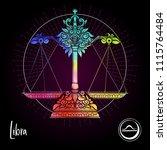 libra  weigher zodiac sign.... | Shutterstock .eps vector #1115764484