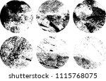 set of grunge textures in black ... | Shutterstock .eps vector #1115768075
