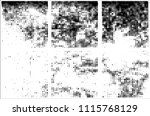 set of grunge textures black... | Shutterstock .eps vector #1115768129