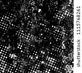 grunge is black and white.... | Shutterstock .eps vector #1115768261
