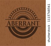 aberrant badge with wood... | Shutterstock .eps vector #1115768561