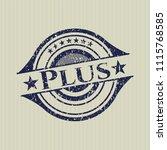 blue plus distress rubber... | Shutterstock .eps vector #1115768585