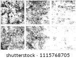 set of grunge textures black... | Shutterstock .eps vector #1115768705