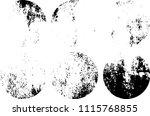set of grunge textures in black ... | Shutterstock .eps vector #1115768855