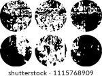 set of grunge textures in black ... | Shutterstock .eps vector #1115768909