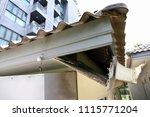 repairing damaged gutters....   Shutterstock . vector #1115771204