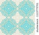 damask seamless pattern. ethnic ... | Shutterstock .eps vector #1115775701