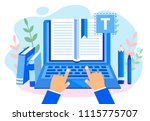 concept blogging  education ... | Shutterstock .eps vector #1115775707