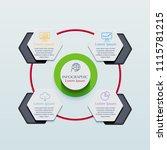 business infographics template... | Shutterstock .eps vector #1115781215