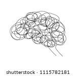 abstract human brain doodle... | Shutterstock .eps vector #1115782181