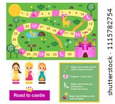board game for kids. actvity... | Shutterstock .eps vector #1115782754