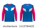 templates jersey for... | Shutterstock .eps vector #1115784635