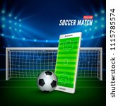 sports betting online. bets web ... | Shutterstock .eps vector #1115785574