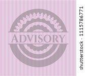 advisory pink emblem. vintage. | Shutterstock .eps vector #1115786771