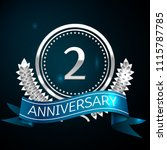 realistic two years anniversary ... | Shutterstock .eps vector #1115787785