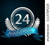 realistic twenty four years... | Shutterstock .eps vector #1115789225