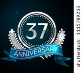 realistic thirty seven years... | Shutterstock .eps vector #1115789255