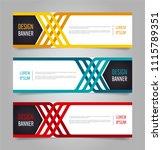 modern red orange and blue...   Shutterstock .eps vector #1115789351