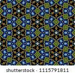 arabic floral seamless pattern. ... | Shutterstock .eps vector #1115791811
