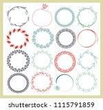 big set of  empty round frames. ... | Shutterstock .eps vector #1115791859