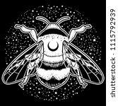 bumblebee hand drawn vector... | Shutterstock .eps vector #1115792939
