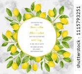 wedding invitation card on... | Shutterstock .eps vector #1115793251