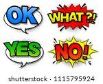 comic speech bubble with... | Shutterstock .eps vector #1115795924