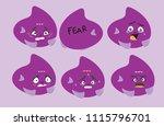 emotional fish   fear | Shutterstock .eps vector #1115796701