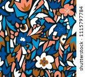 terrazzo seamless pattern.... | Shutterstock .eps vector #1115797784